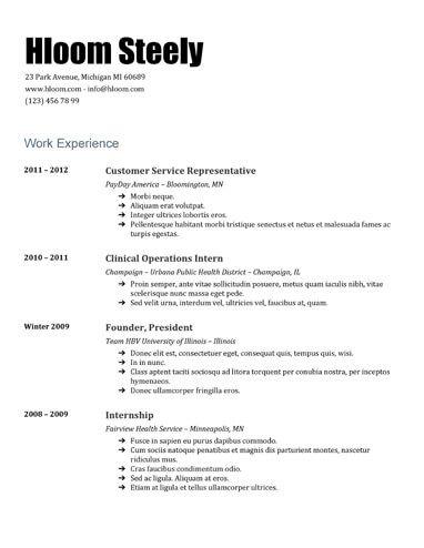 Steely Google Docs Resume Template Resume Templates and Samples - resume format google docs