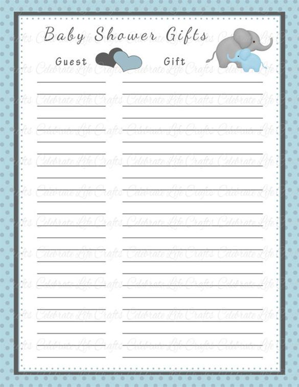 baby shower guest list template - Amitdhull - guest list sample