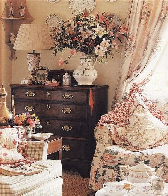 Englischer Style Another Chintz Sitting Room | English Country Cottages