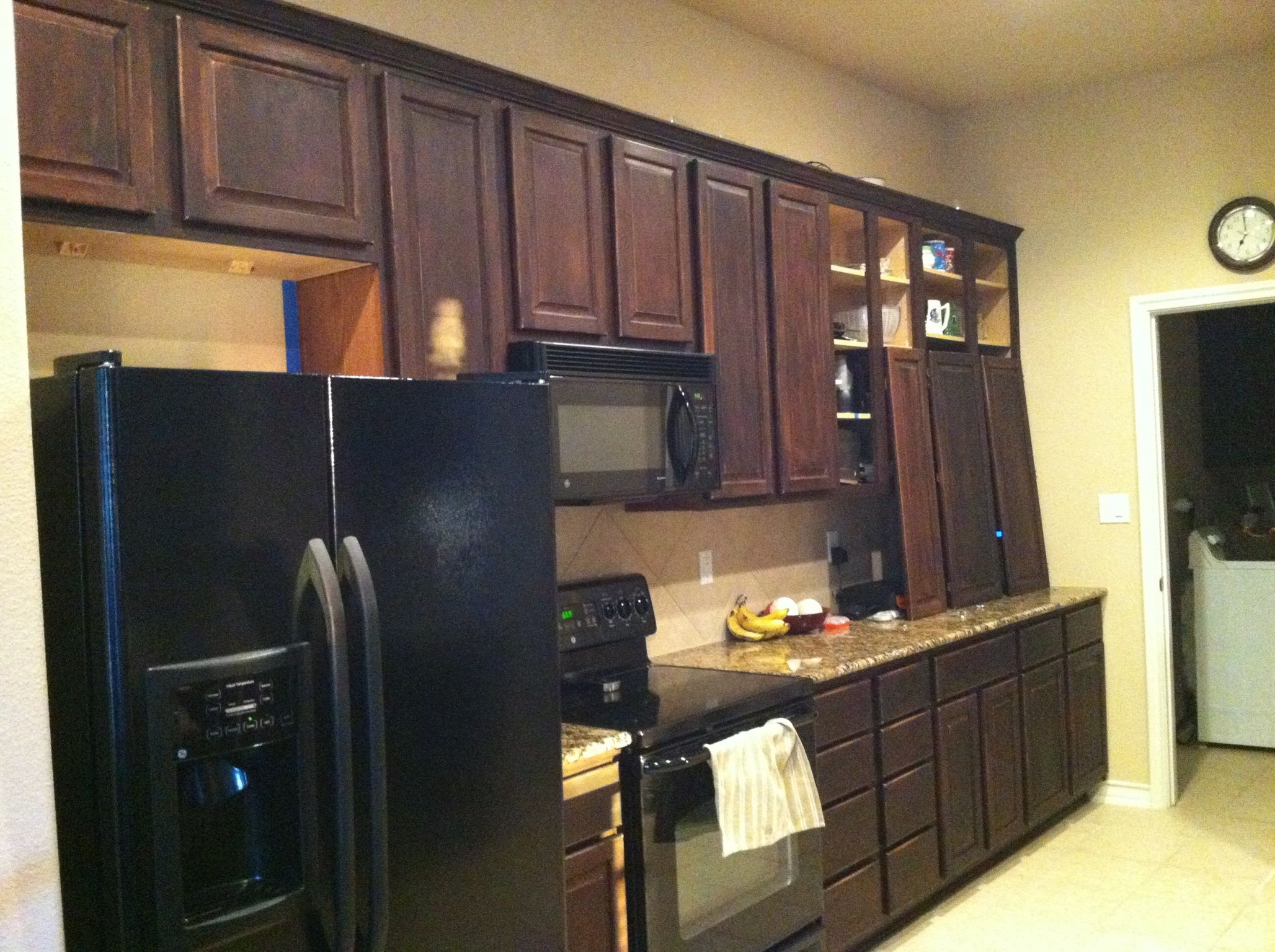 Staining Unfinished Kitchen Cabinets Diy Distressed Cabinets With Gel Stain Gel Stain Is