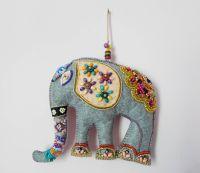 Elephant Felt Wall Hanging Indian Design Ethnic Wall decor ...