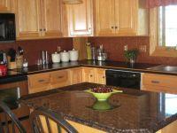 dark granite countertops with light cabinets ...