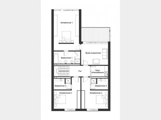Grundriss DG Ökohaus Webb Praktische Raumaufteilung jeder hat - badezimmer grundriss