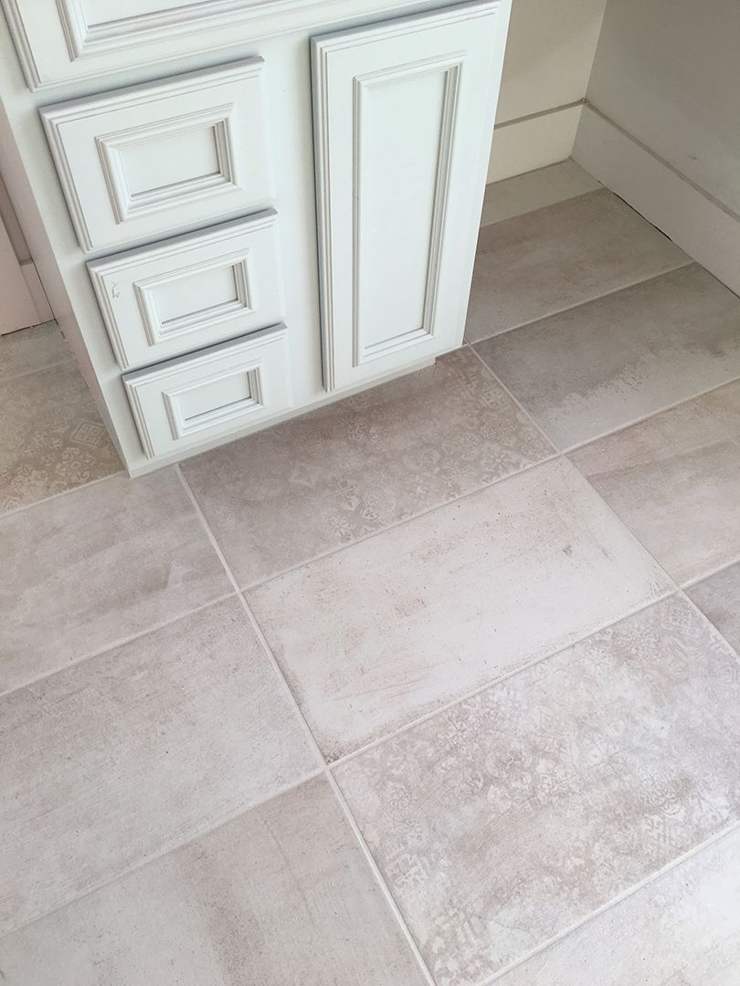 Light Grey Bathroom Floor Tiles