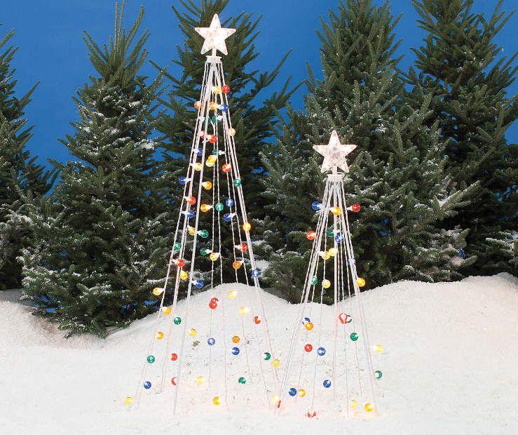 Light Up Twinkle String Trees, 2 Piece Set At Big Lots Ho Ho
