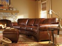 Leather sectional, rustic sofa | Rustic Lodge & Cabin ...