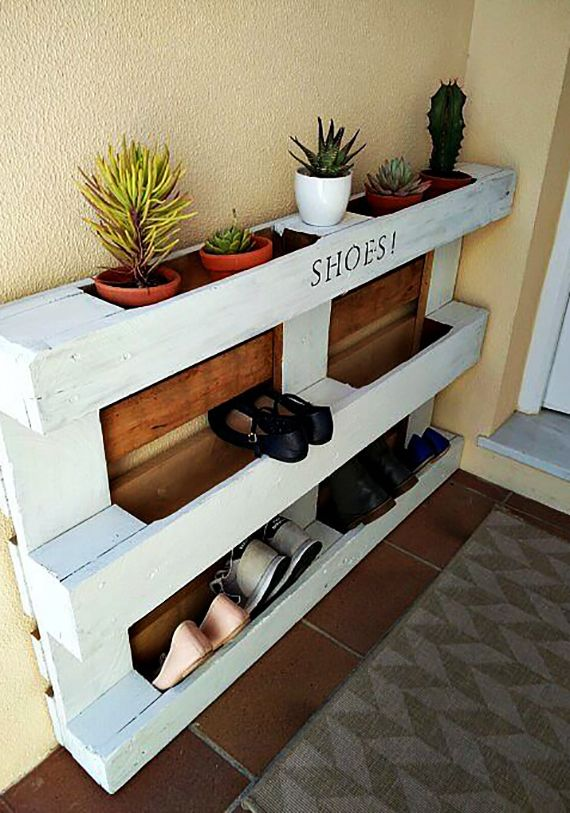 paletten möbel selber bauen Wohnideen-für-Schuhregal-selber - wohnideen zum selber bauen