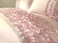 Details about Pink / White / Cream / Duckegg Quilt Cover ...