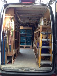 Van racking, tool storage, makita systainer