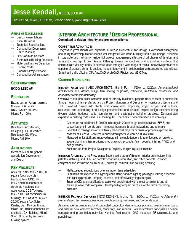 Resume Sample for Fresher architecture Architects are master of - constructing a resume