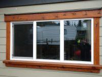 how to add exterior window trim on stucco