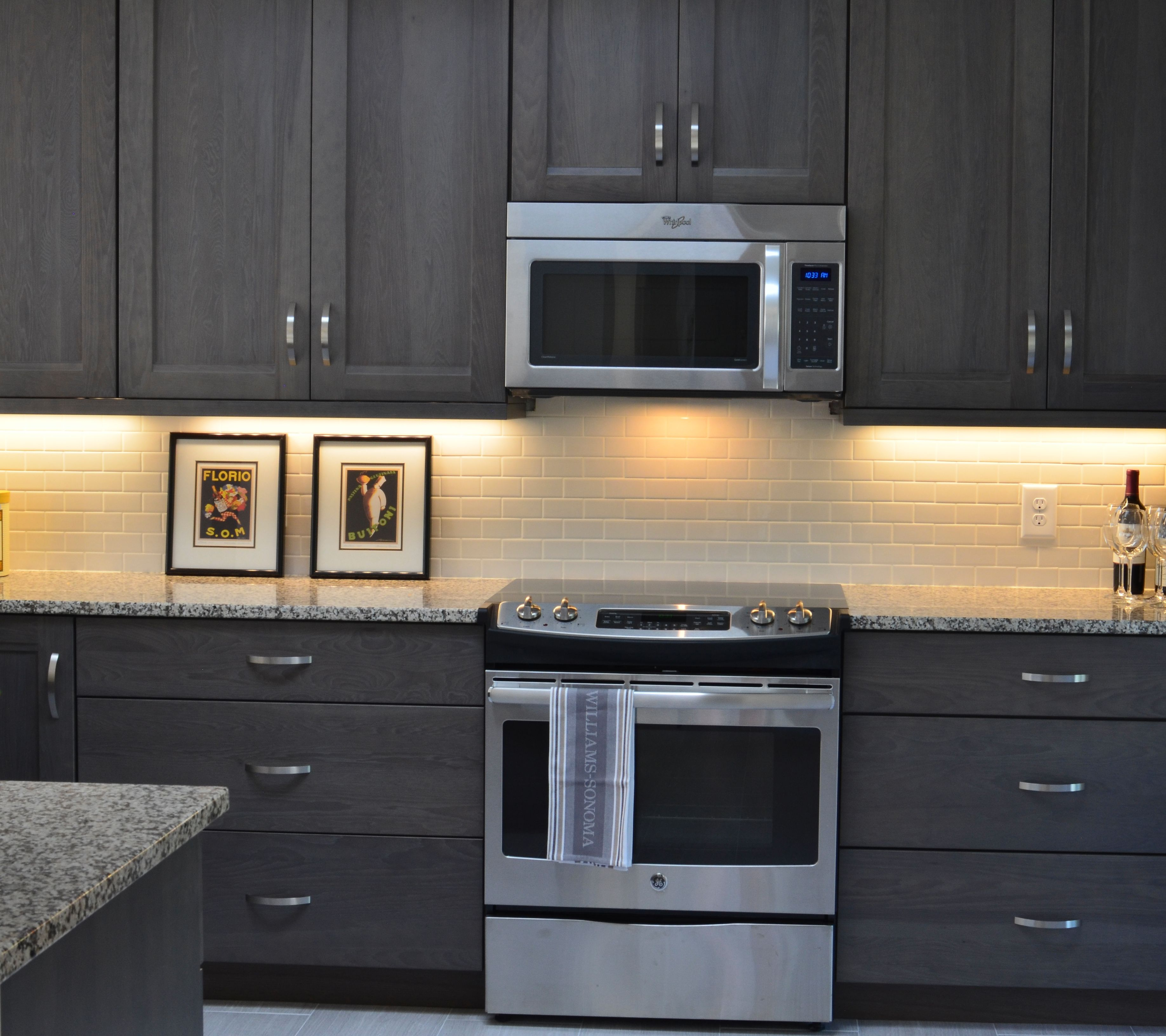 Photos Of Gray Kitchen Cabinets Grey Stained Hickory Cabinets Grey Kitchen Https Www