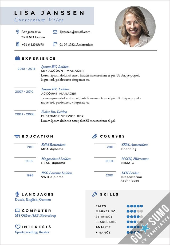 Curriculum Vitae Cv Template The Balance Stand Out Cv Design Cv Template In Word And Powerpoint