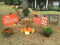 Set up beside porch to the right..Make pumpkins with ...