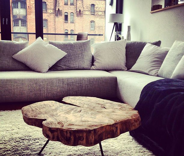 Couchtisch \/ Wohnzimmertisch Aus Einer Baumscheibe Holzwerk   Designer  Couchtisch Wohnzimmertisch