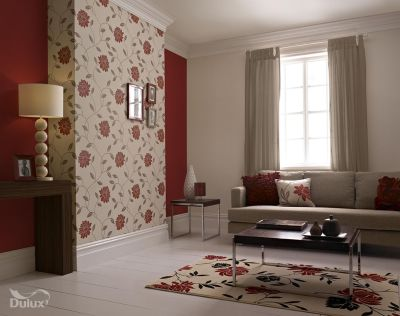 This beautiful floral is the perfect feature wall design adding a touch of glamour to any room ...