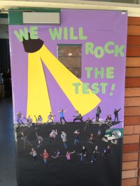 Door decorating for CRCT test!