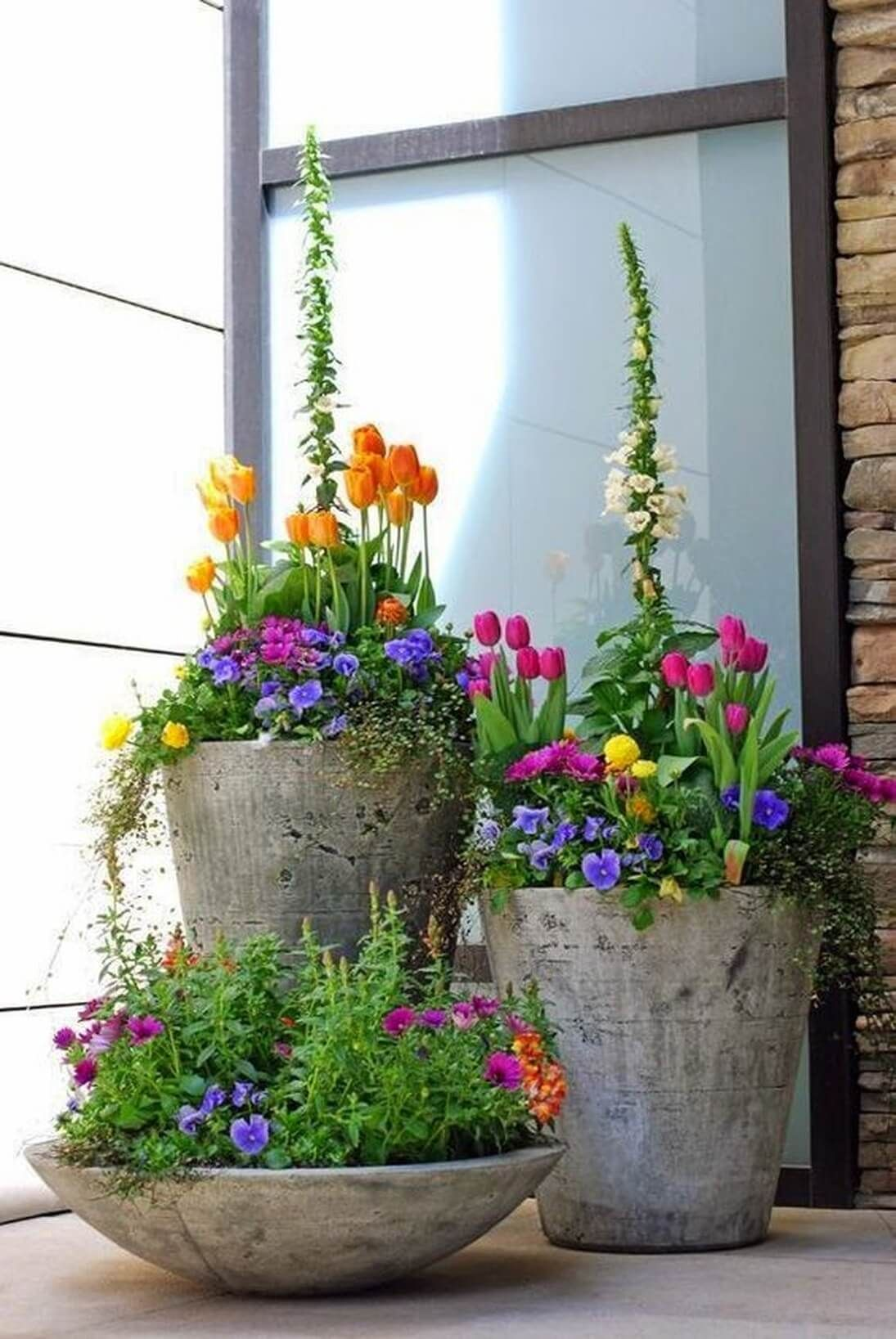 How To Make Beautiful Flower Pots At Home 29 Pretty Front Door Flower Pots That Will Add Personality