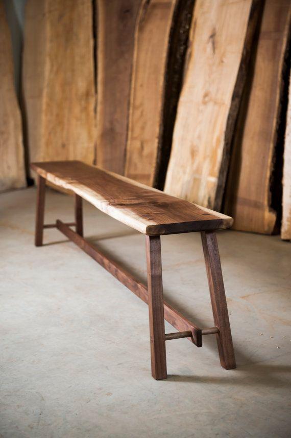 Modern Walnut Bench DIY And Crafts Pinterest Stuhl Design   Bank Und Stuhl  Modern