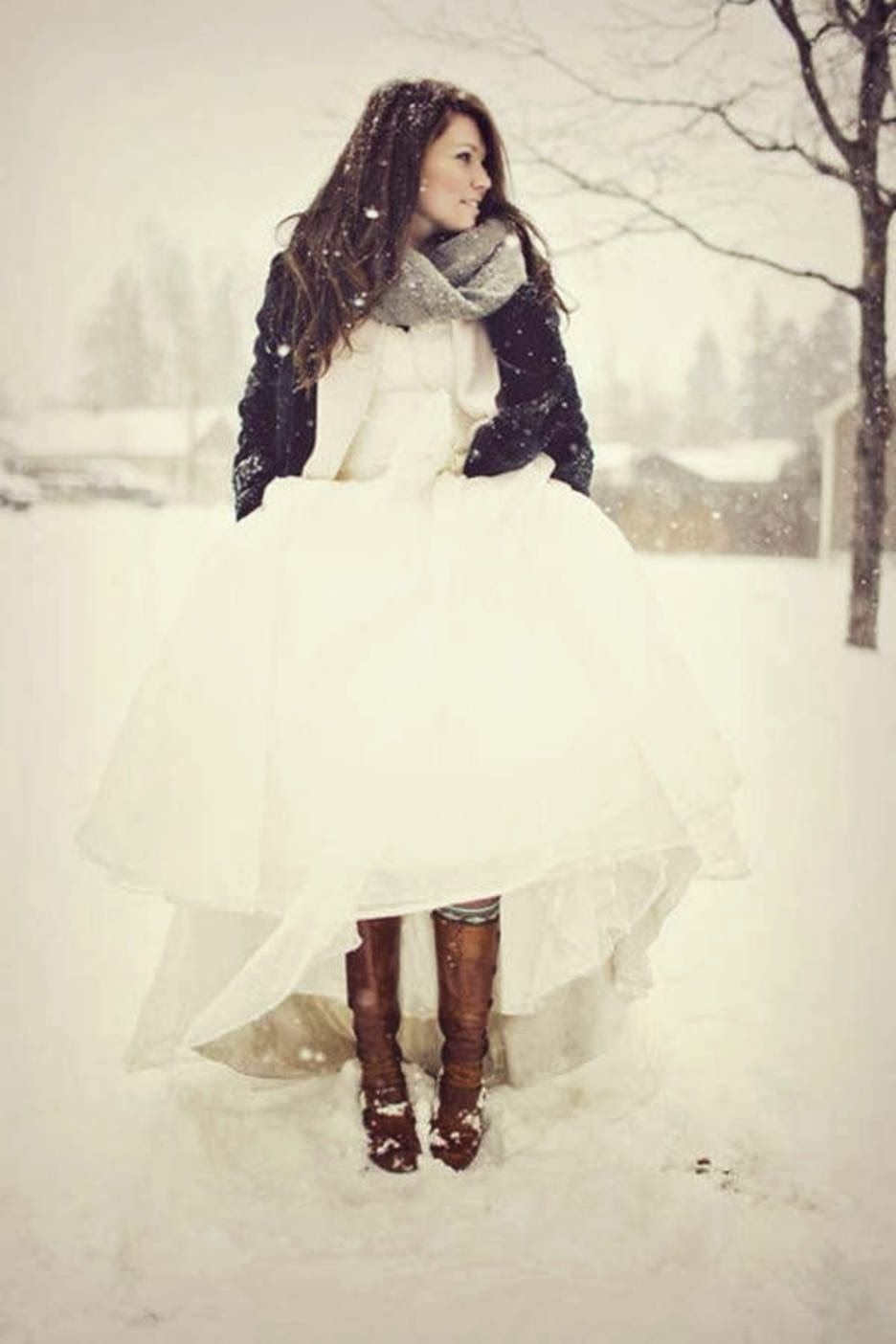 winter wedding dresses ballgown and boots knee length ball gown winter wedding