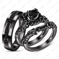 Black Gold Wedding Ring Sets - staruptalent.com