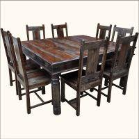 Rustic Square Solid Wood Furniture Large Dining Room Table ...