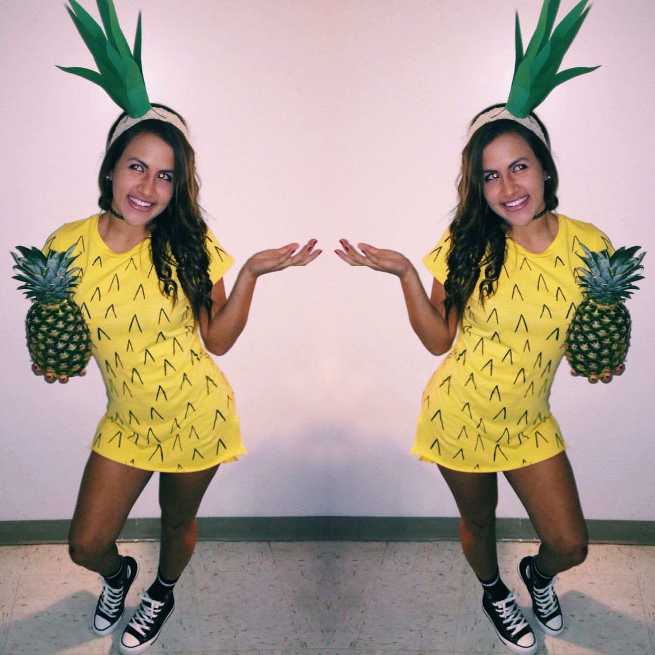Ananas Kostüm Selber Machen Pineapple Costume Diy Hawaii Pinterest Fasching