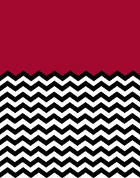 Colorblock Chevron Background in Dark Red | Chevron Crazy ...