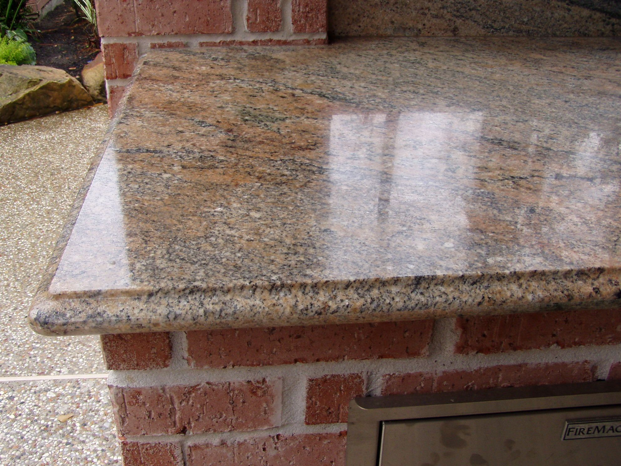 Granite Edges Vyara Juprana Granite Top With 1 1 2 Quot Ogee Edge Outdoor