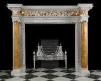 Antique Georgian Fireplace Mantel with Sienna Marble ...