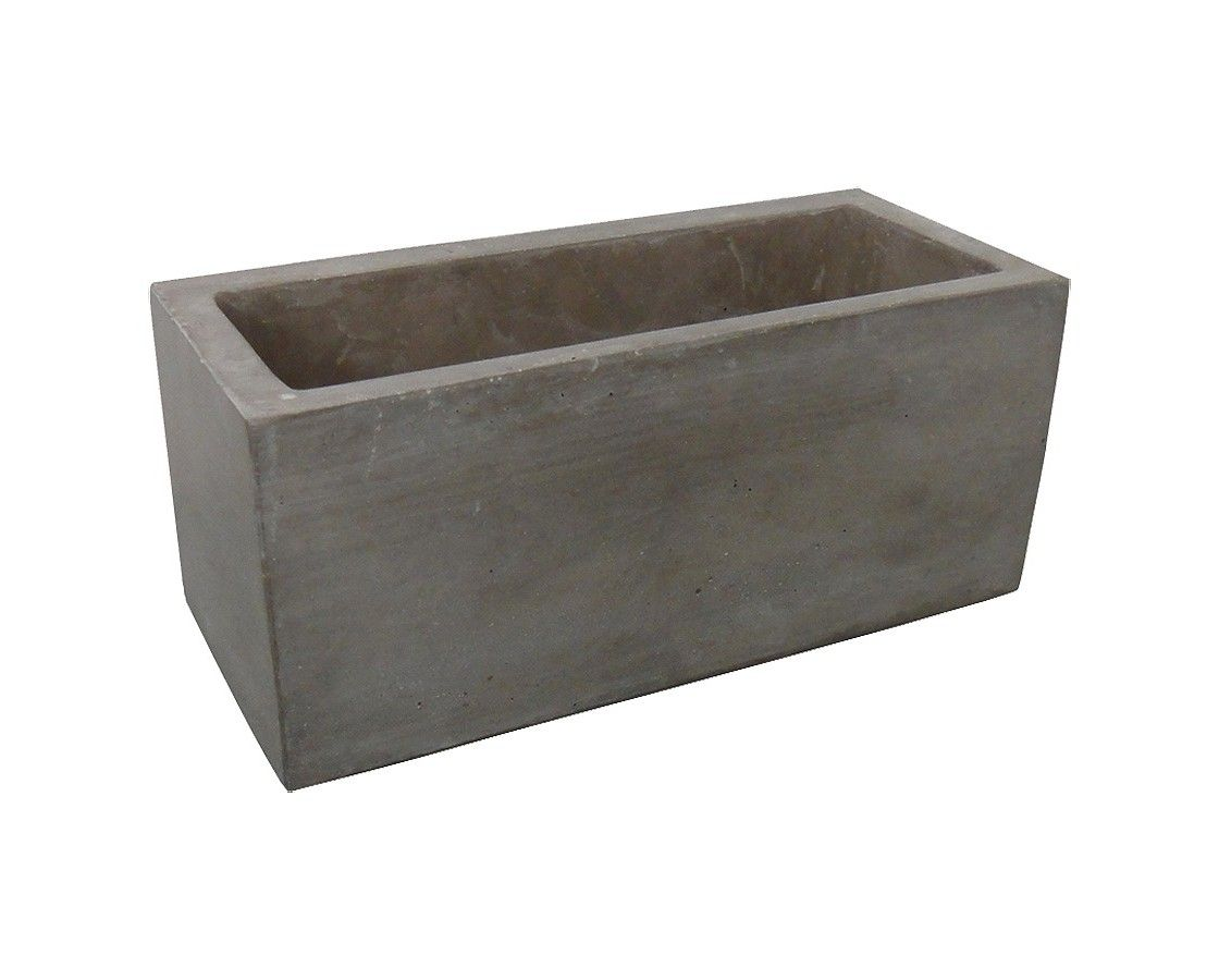 Square Concrete Planter Threshold 14 Quot Rectangle Large Concrete Planter Outdoor
