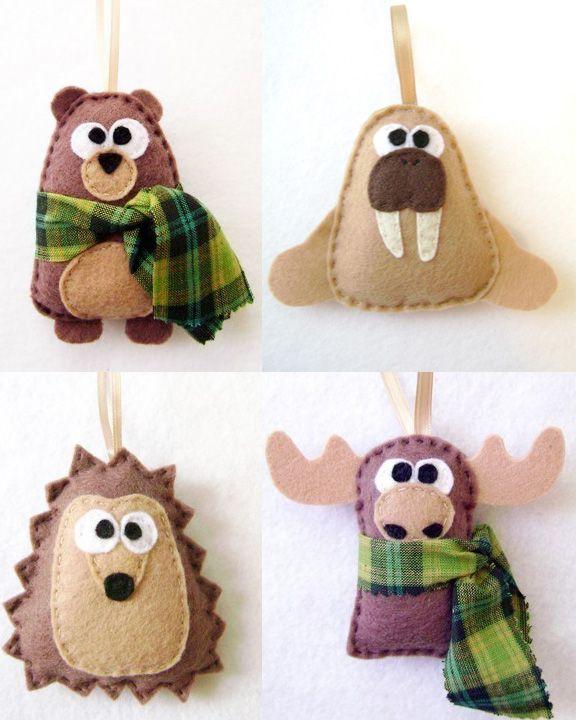 30 Beautiful Felt Christmas Decorations Ideas Felt christmas - moose christmas decorations