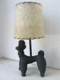 Kitschy 1950's Black Poodle Lamp   Poodles   Pinterest