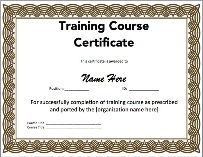 15 Training Certificate Templates u2013 Free Download Templates - free training certificates