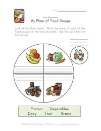 food groups plate worksheet | Ideas for the House ...