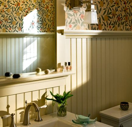 One of the top 5 bathroom requests, per this site, is bead board - beadboard bathroom ideas