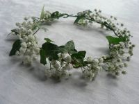 Beautiful gypsophila hair wreath | weddings | Pinterest ...