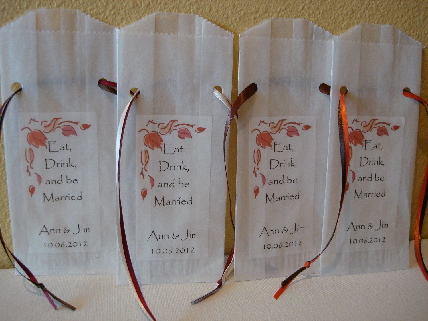 fall wedding favors Fall Wedding Favor Bags Party Favors Cookie Bar Candy Bar Set