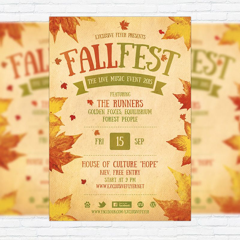 Fall Festival Flyer Template Printable Flyers In Word Fall - microsoft templates for flyers