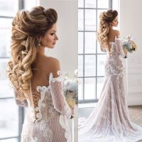 Beautiful bridal hairstyle for long hair | Wedding hairstyles