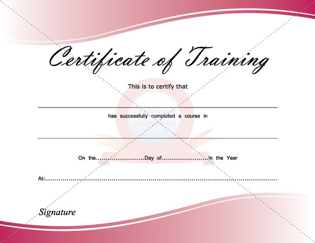 Certificate Of Training Certificate Template Pinterest - free training certificates
