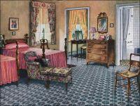 1926 Blabon Bedroom Design - 1920s Design Inspiration ...
