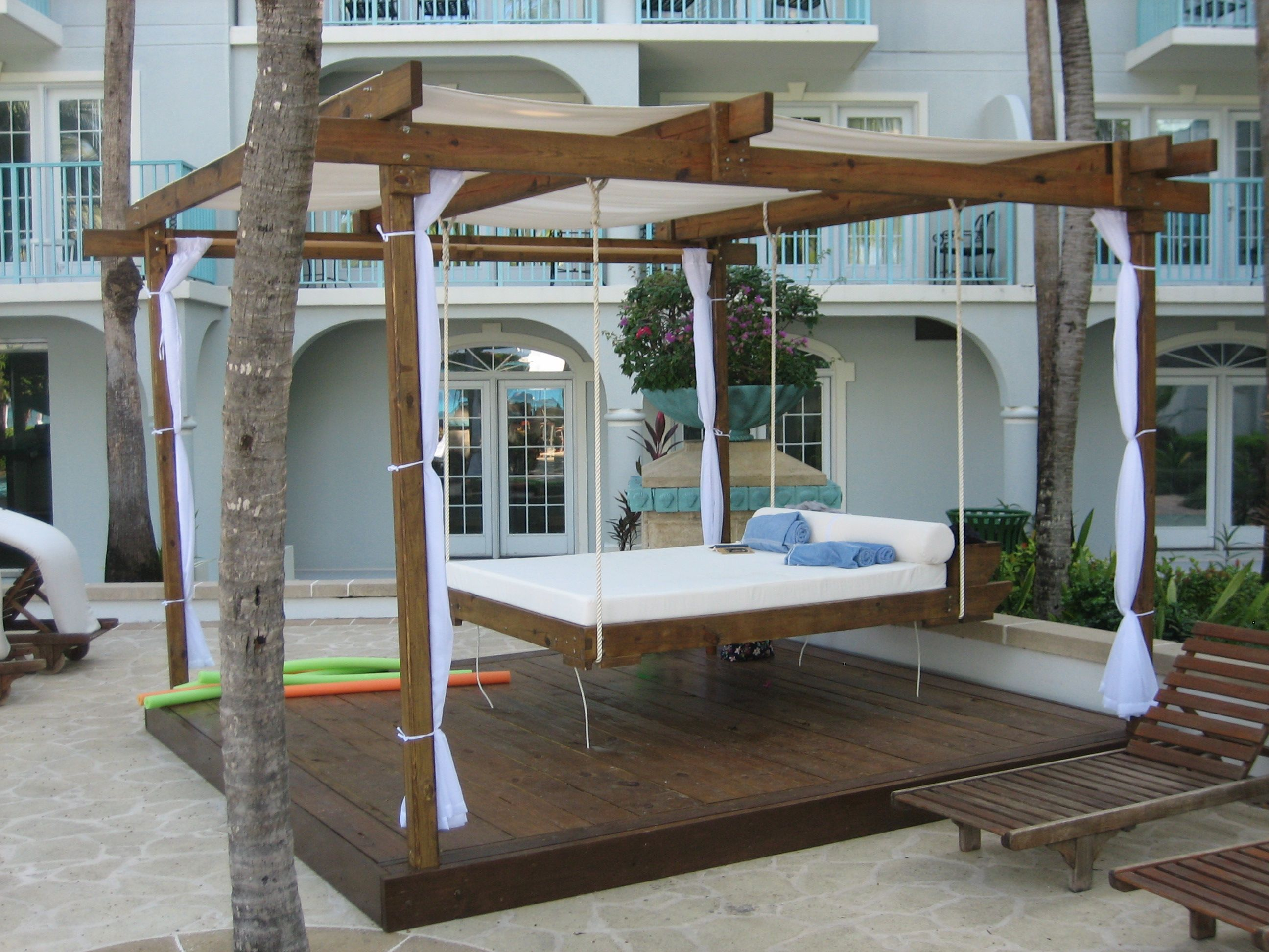 Inspiration bedroom very popular teak outdoor hanging beds