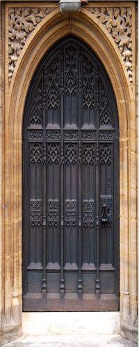 Gothic Door wrap, Castle door, Man cave idea | Vinyl cover ...