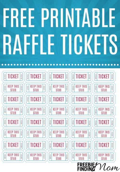 free printable tickets for fundraiser