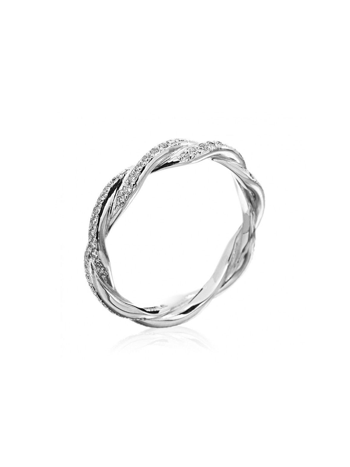 infinity twist wedding band Michael B Platinum Double Twist Eternity Band at London Jewelers Love this Infinity Ring EngagementInfinity Wedding