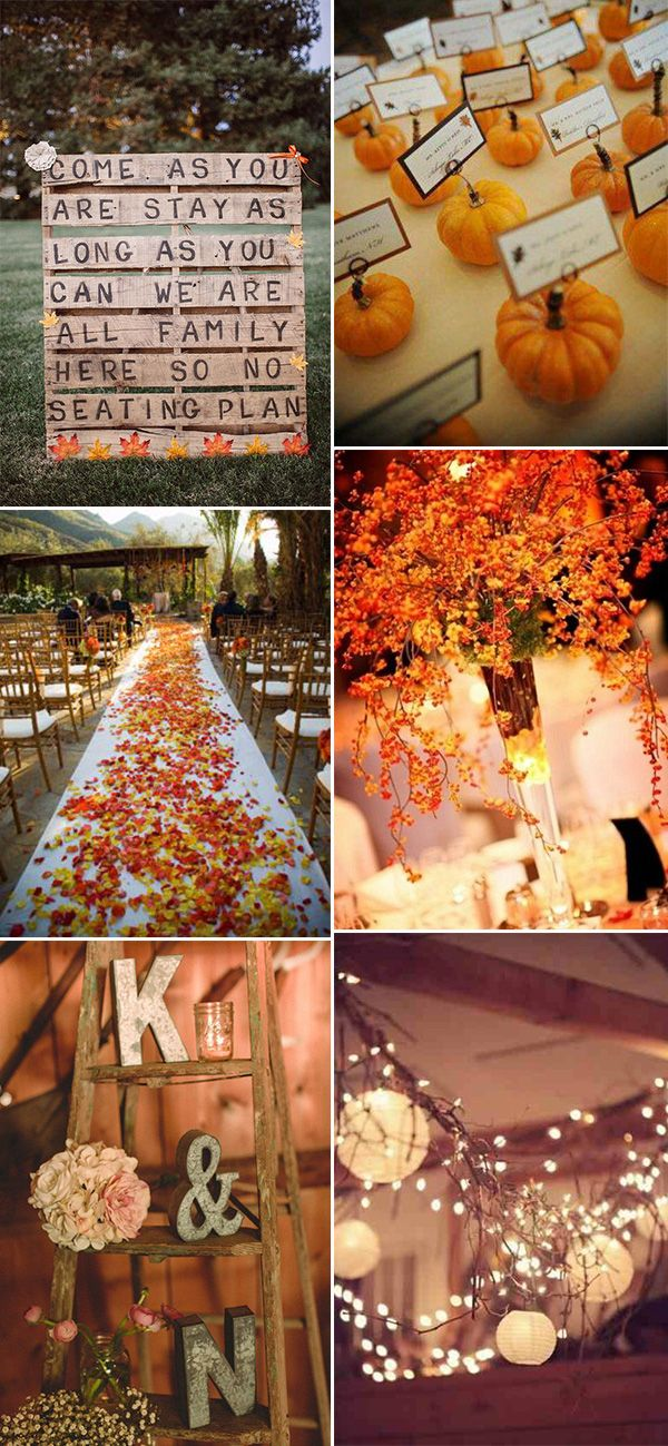 30 Great Fall Wedding Ideas For Your Big Day Decoration