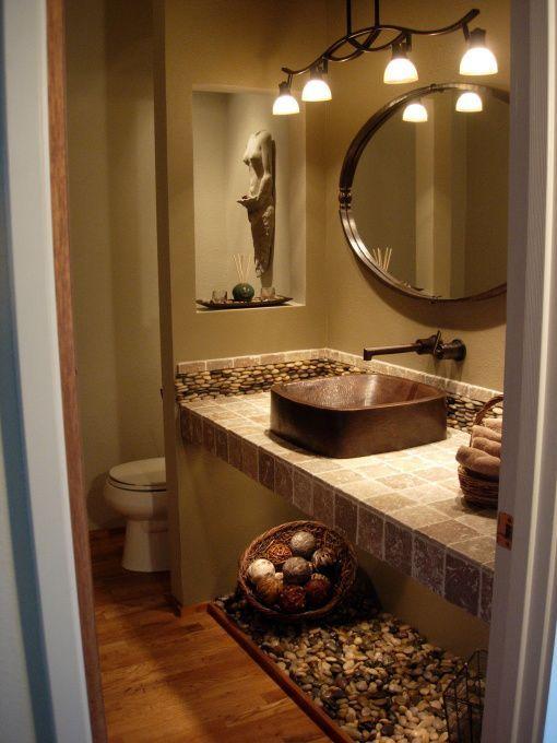 spa themed bathroom ideas Spa Powder Room - Bathroom Designs - hgtv bathroom designs