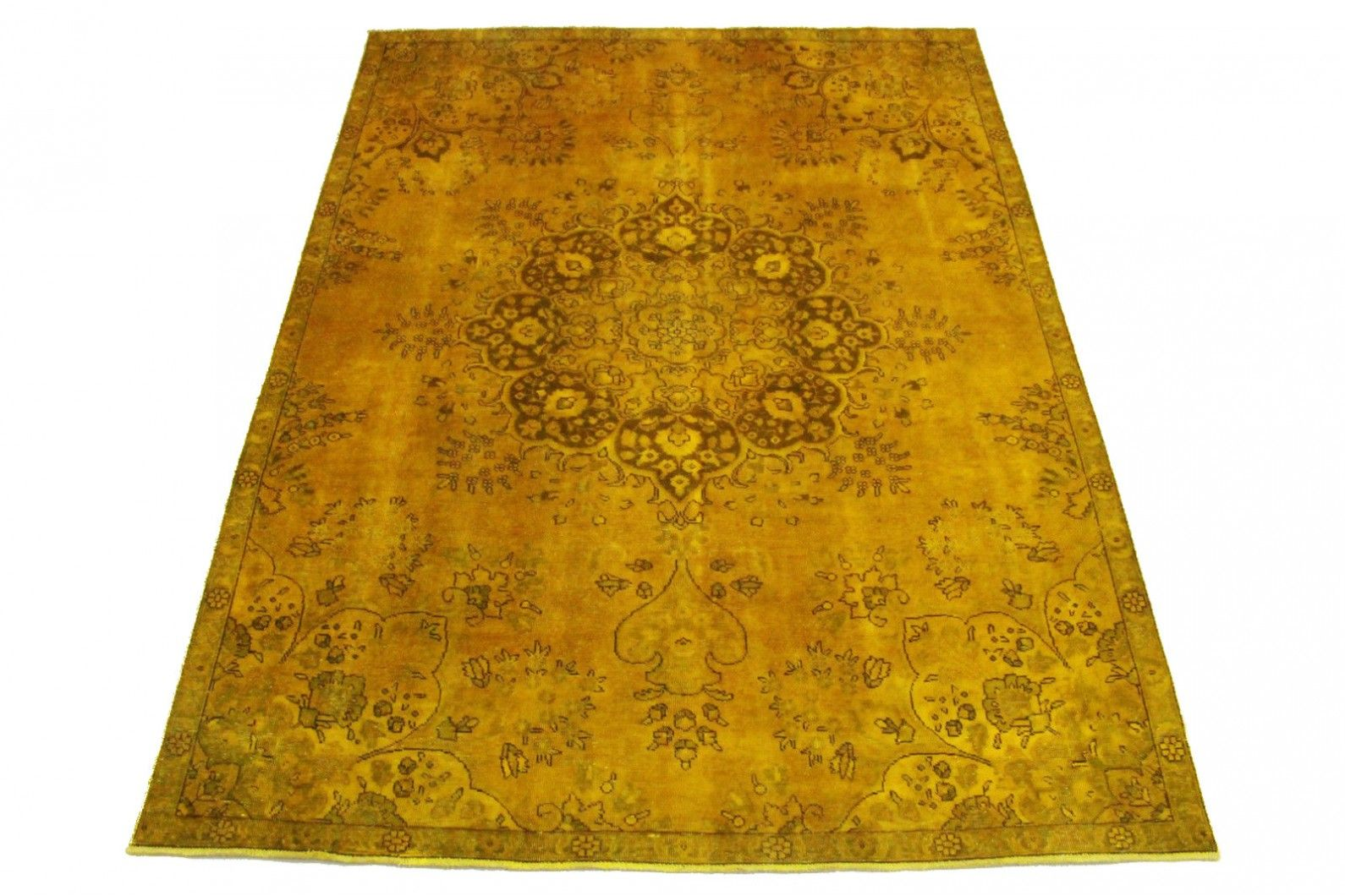 Teppich Gold Rund Vintage Teppich Gold In 300x220cm | Hometrends And Colors