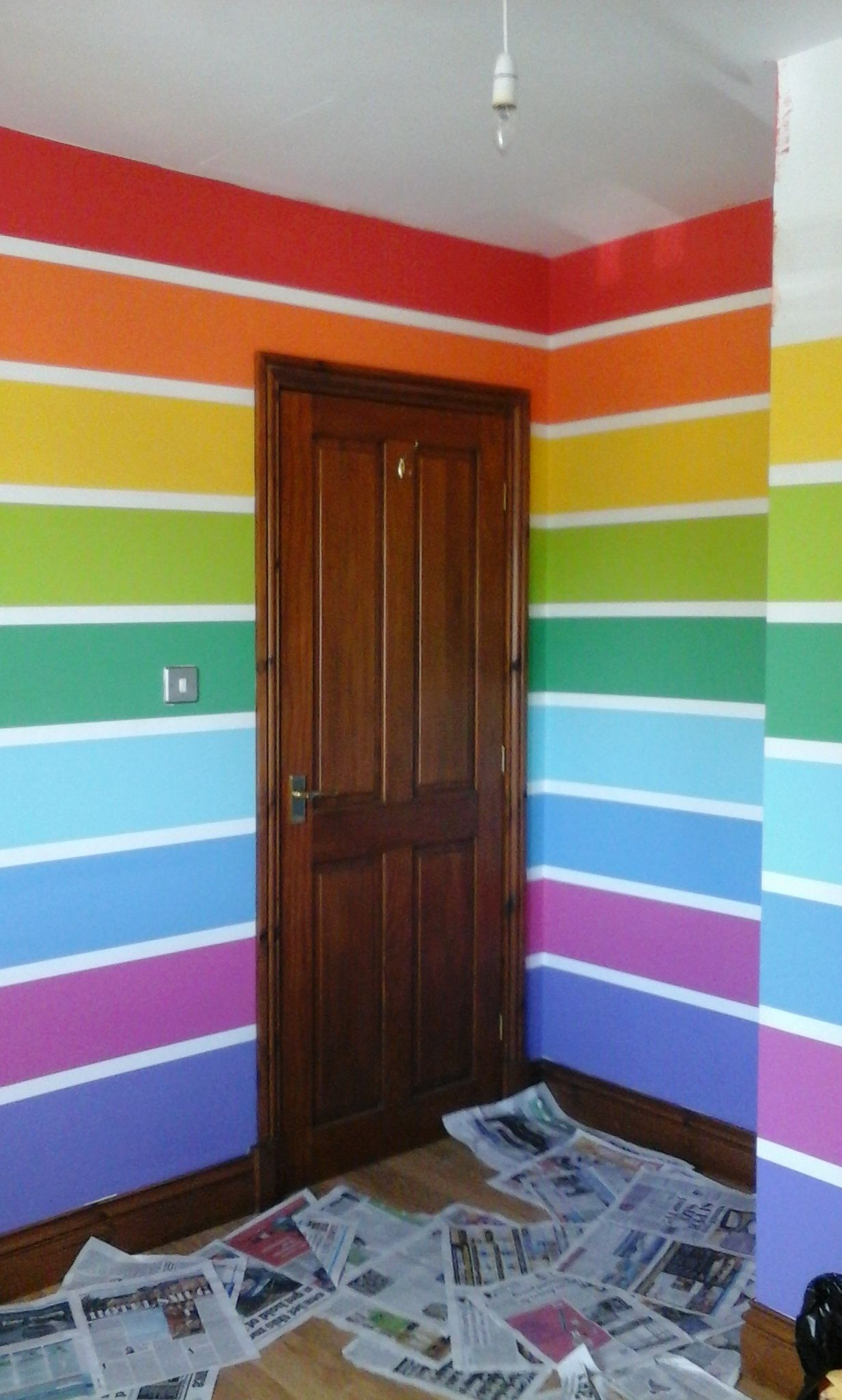 Rainbow Kids Rooms Pulling Off The Tape The Best Part Pinteres